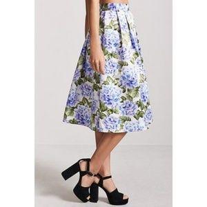 Forever 21 flowered skirt